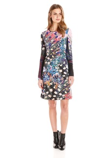 Clover Canyon Sportswear Women's Etched Blooms Longsleeve Printed Dress