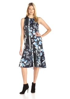 Clover Canyon Sportswear Women's Fall Leaves Neoprene Dress