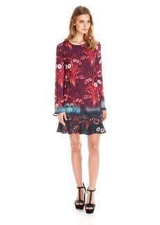 Clover Canyon Sportswear Women's Floral Mist Longsleeve Woven Printed Dress