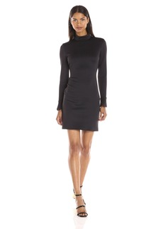 Clover Canyon Sportswear Women's Lasered Neoprene Long Sleeve Mockneck Dress