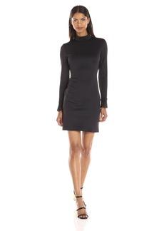 Clover Canyon Sportswear Women's Lasered Neoprene Long Sleeve Mockneck Dress