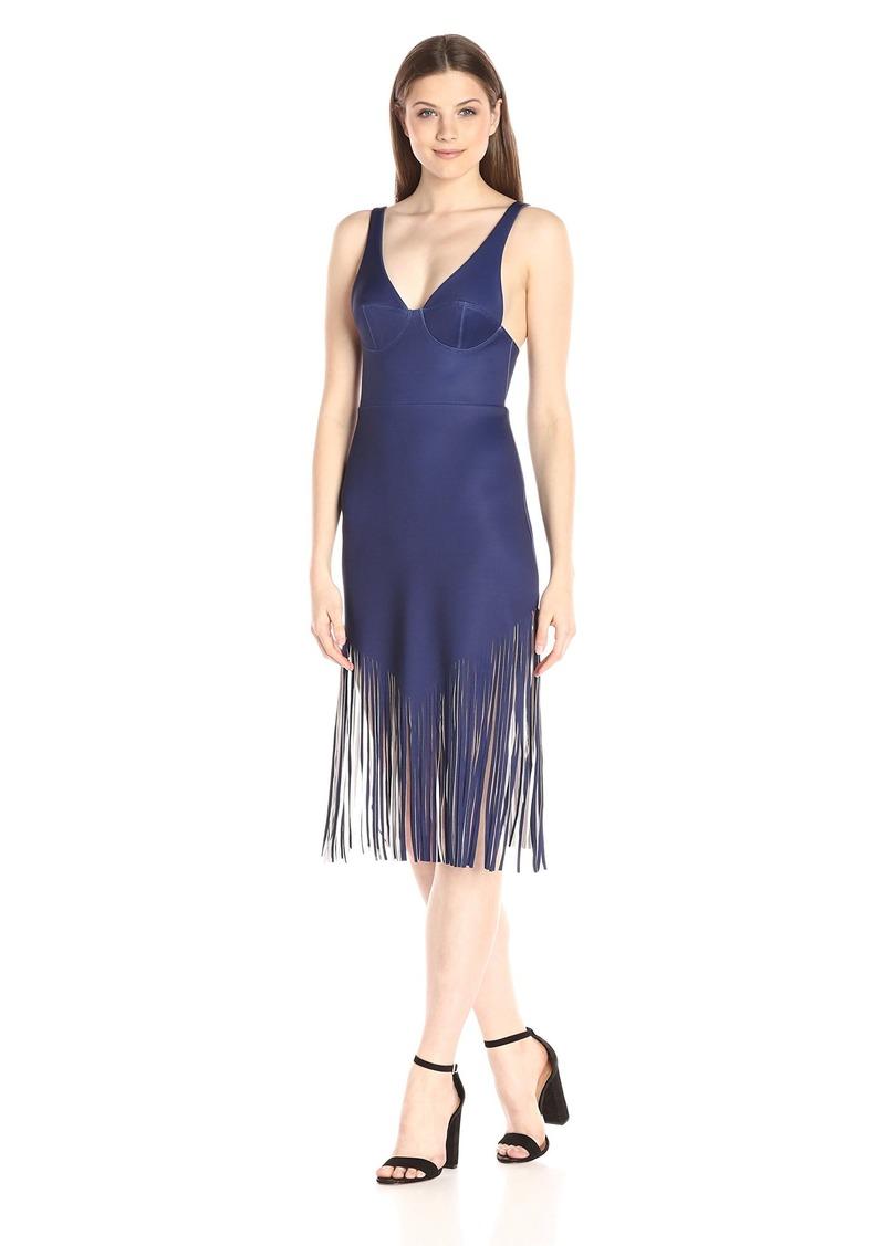 Clover Canyon Sportswear Women's Neoprene Laser Cut Dress
