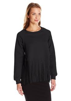 Clover Canyon Sportswear Women's Neoprene Laser Cut Sweatshirt