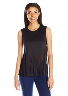 Clover Canyon Sportswear Women's Neoprene Laser Cut Top