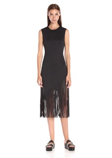 Clover Canyon Sportswear Women's Neoprene Solid Laser Cut Dress