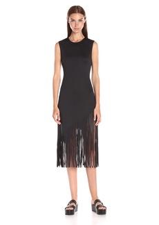 Clover Canyon Sportswear Women's Neoprene Solid Laser Cut Dress