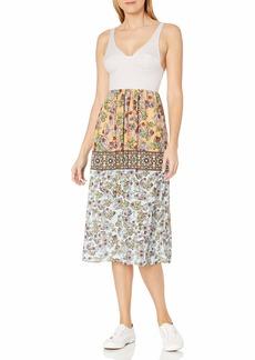 Clover Canyon Sportswear Women's Neoprene/Georegette Dress