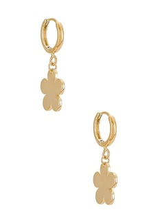 Cloverpost Daisy Huggie Hoop Earrings