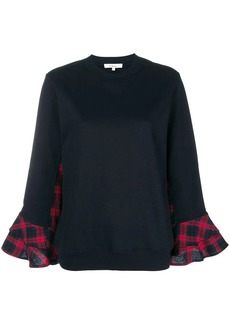 Clu checked inserts sweatshirt