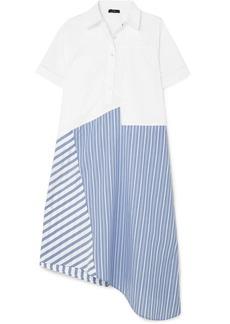 Clu Asymmetric paneled cotton-poplin dress