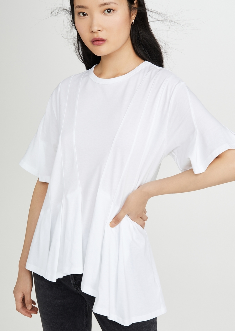 Clu Asymmetrical Paneled Top