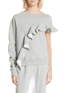 Clu Asymmetrical Ruffle Sweatshirt