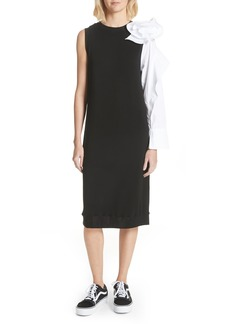 Clu Bow Sleeve Midi Dress
