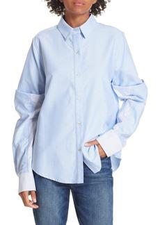 Clu Colorblock Cotton Poplin Shirt