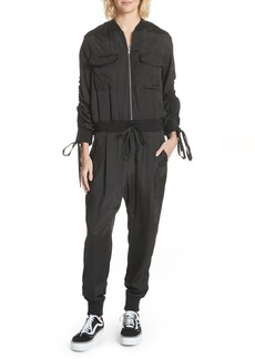 Clu Drawstring Sleeve Jumpsuit