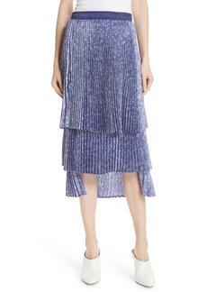 Clu Floral Pleat Skirt
