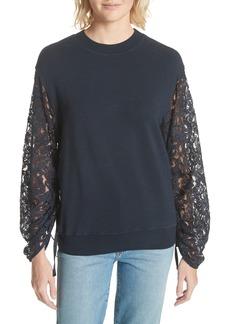 Clu Lace Sleeve Sweatshirt