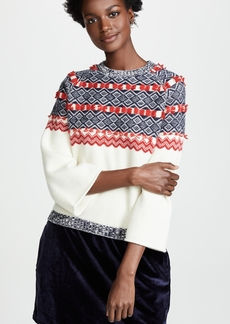 Clu Mixed Media Fair Isle Sweater Dress