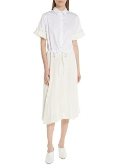 Clu Pleat Midi Shirtdress