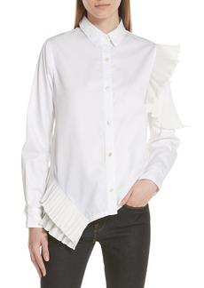 Clu Pleat Trim Shirt
