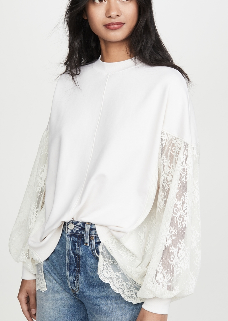 Clu Poet's Pullover with Lace Sleeves