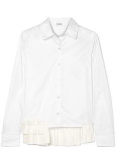 Clu Ruffle-trimmed Cotton-poplin Shirt