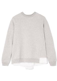 Clu Satin And Mesh-paneled Cotton-blend Jersey Sweatshirt