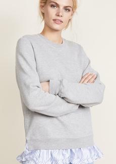 Clu Sweatshirt with Contrast Ruffles