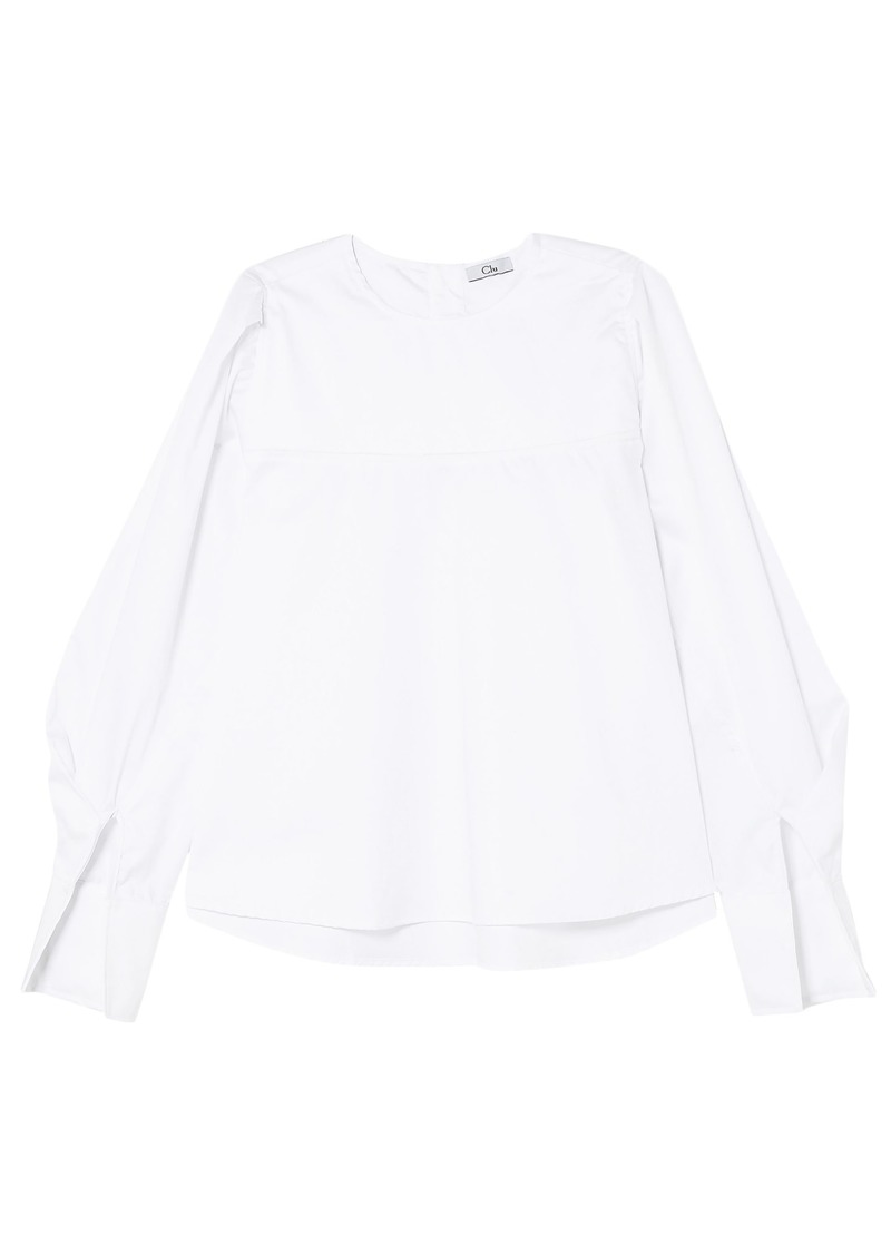 Clu Woman Cotton-poplin Blouse White