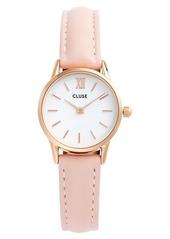 CLUSE La Vedette Leather Strap Watch, 24mm