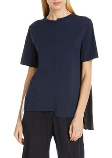 Clu COLOR BLOCKED PLEAT BACK TOP