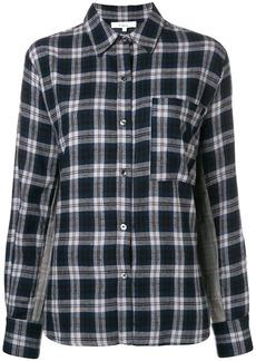 Clu contrast panel check shirt