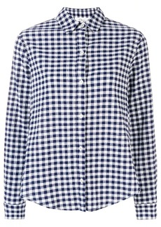 Clu frilled sleeve gingham shirt