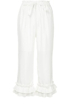 Clu ruffle cropped trousers