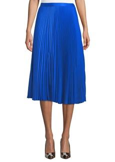 Club Monaco Annina Accordion-Pleated Midi Skirt