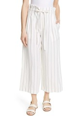 Club Monaco Anreannah Stripe Wide Leg Linen Blend Pants