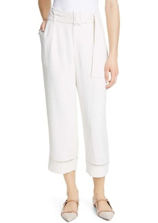 Club Monaco Ayto Lace Detail Belted Pants