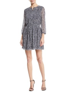 Club Monaco Bishhuppe Printed Button-Front Short Dress