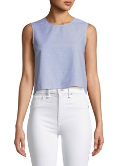 Club Monaco Caleigh Cropped Button-Back Top