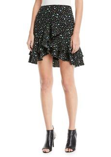 Club Monaco Ampey Floral-Print Mini Skirt