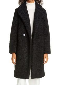 Club Monaco Astrakhan Faux Fur Coat