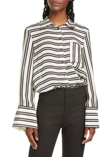 Club Monaco Bell Sleeve Silk Shirt