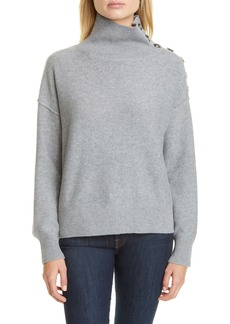 Club Monaco Button Neck Cashmere Sweater