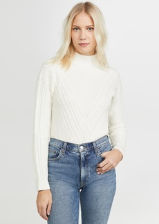 Club Monaco Cable Front Turtleneck Sweater
