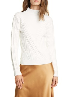 Club Monaco Cable Knit Turtleneck Sweater