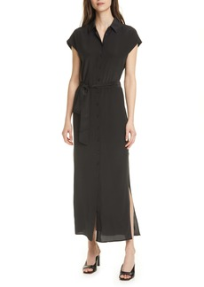 Club Monaco Danielle Silk Maxi Shirtdress