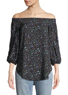 Club Monaco Dioney Off-the-Shoulder Floral Top