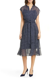 Club Monaco Dremah Silk Midi Dress