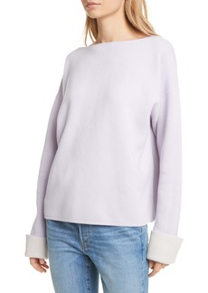 Club Monaco Esquinah Reversible Double Knit Cashmere Blend Sweater