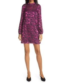Club Monaco Floral Burnout Long Sleeve Minidress